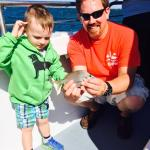 Thanks to the Captain for helping my son catch his first fish!