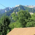 La vue du balcon de notre chambre