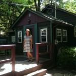 We stayed in cottage #4. The pictures of the water falls are the falls, that are a short walk th