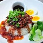 Kao Moo Dang (roasted honey pork over rice)