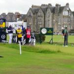 Marcus Fraser tees off 2nd hole at the 2015 Open