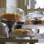 Delicious tea and cake - home-made Battenburg!