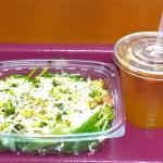 My delicious, refreshing salad and espresso.