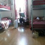 Sunlit dorm room