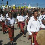 Traditional musicians in the Round Up Parade