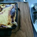 moussaka and dolmades