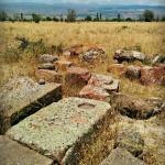 Remains of tombstones at Badali Zham Church
