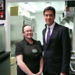 A visit from Ed Miliband
