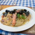 Seafood spaghetti - the best we had in Croatia!