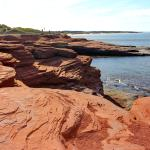 Red cliffs and beach of Cavendish, PEI