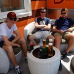 Great outside bar in the sun