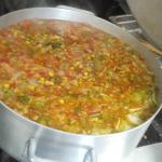 Little Leo's fresh made veggie soup!