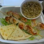 Chicken Souvalki Platter (couldnt fit Greek side salad in photo)