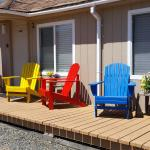 Cabins share deck