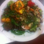 Loved this bespoke vegetarian dish prepared. Paneer tikka with sizzling mix veg. Brilliant combi