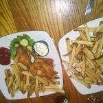 fries and deep fired walleye