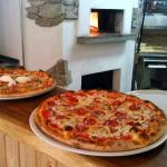 Pizzas from bread oven