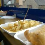 GF fish & chips (with GF vinegar & sustainable fish = AMAZING)