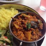Vegetable Curry and Crispy Okra