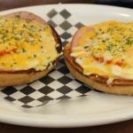 Ham and Tomato Cheesy Bagel