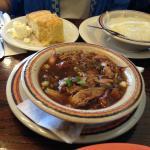 jambalaya, corn bread and grits