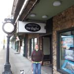 Me and Elvis under the Dazzled sign