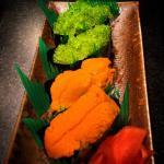 Super fresh uni and spicy green wasabi tobiko