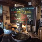 Freshly ground coffee.