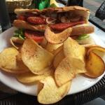 Chorizo Sandwich with Yucca crisps (or chips if you're American).