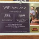 Hotel paid WiFi packages