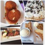 Arancini, White Pizza, Monkfish, Pound Cake