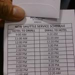 Shuttle schedules