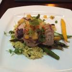 Tequila & lime pork tenderloin with grilled pineapple and mango salsa