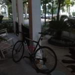 My bike on the front porch before heading to the Bridgeman Duathlon.