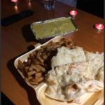 Chicken Korma, Chips and Naan