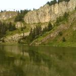 "Mountain top lake on ""Red Rock"" Mountain in Rugova range"
