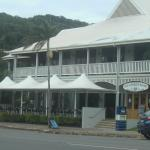 Looking up to the Balcony Restaurant at the Sovereign Resort Cooktown