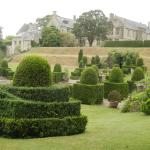 Gardens at Mapperton with house