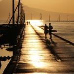 干潮の時だけ歩ける海床路