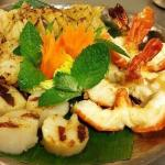 Yummy mixed grilled seafood