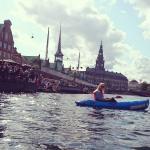 Kayaking in the channels of Copenhagen
