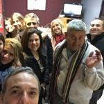 Reunión de amigos en el restaurante del club Lanús Adri Marce Sandru Robert Walter Fass Gabriel