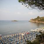 Spiaggia della calanca, isola e torre dell'isola