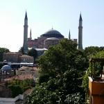 uninterrupted view of Hagia Sophia from balcony