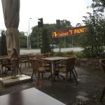 Helaas bij regen, maar binnen erg gezellig