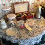Tea and cookies available all day