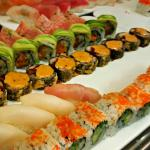 interesting maki rolls for lunch buffet, some better than others