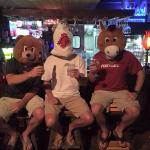 A bear, a shark & a bull stopped by for dinner!! ��