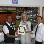HONOURED From left:  Alamgir Hussain, Sue Tinney and  Shuzlo Amin