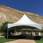 Our new tent is available for your outdoor events.
